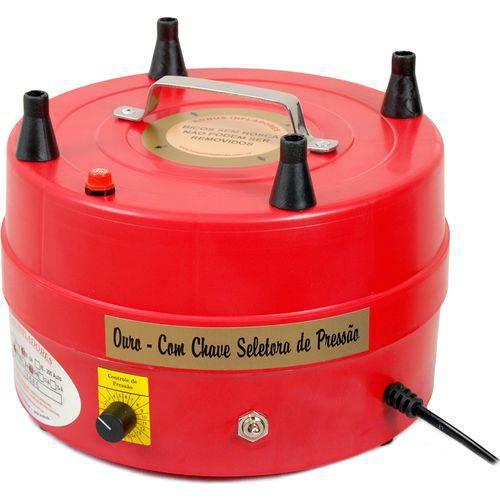 Tudo sobre 'Compressor de Ar para Inflar Balões - Ib-04 Ouro - Bônus Infladores'