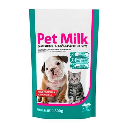 Concentrado para Cães e Gatos Pet Milk Sachê 300g