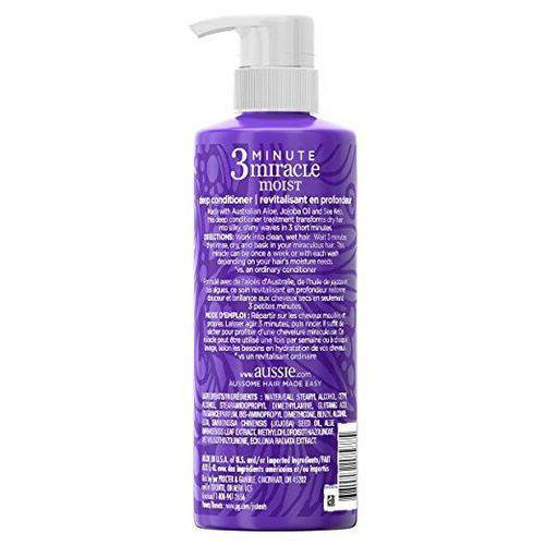 Tudo sobre 'Condicionador Aussie 3 Minute Miracle Moist 475ml'