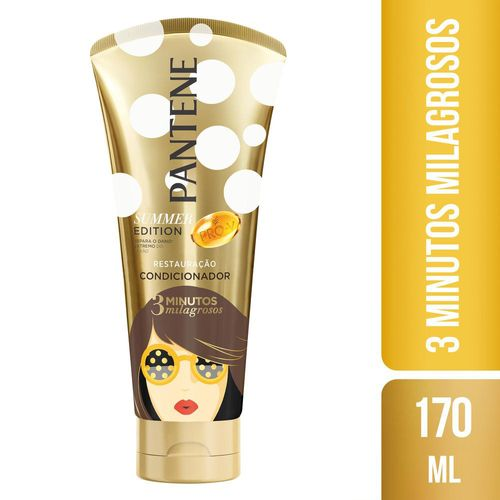 Condicionador Pantene 3 Minutos Milagrosos Summer 170ml Condicionador Pantene 3 Minutos Milagrosos Summer Edition 170ml