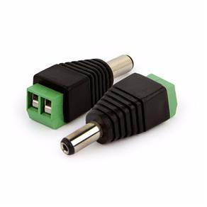 Conector Plug P4 2.1 Mm Macho com Borne