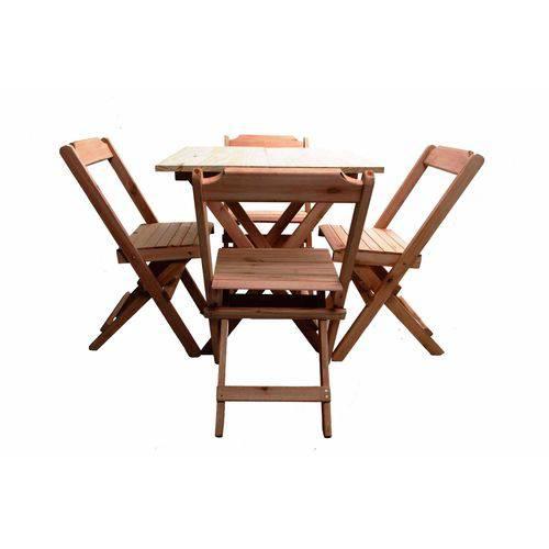 Tudo sobre 'Conjunto 4 Cadeiras e 1 Mesa 70 X 70 - Madeira'
