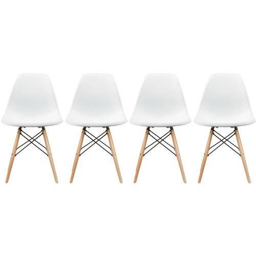 Tudo sobre 'Conjunto 4 Cadeiras Eiffel Eames Dsw Branca'