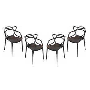 Conjunto 4 Cadeiras Umix 400P4 Preta