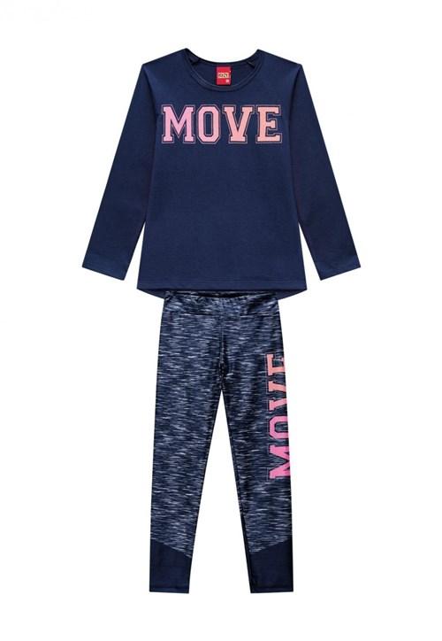 Conjunto Blusa Legging Kyly Moving Azul