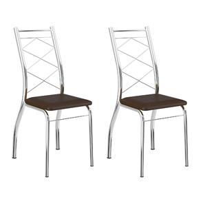 Conjunto 2 Cadeiras Malaga Carraro - Marrom