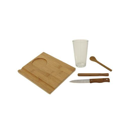 Conjunto Caipirinha 5 Pcs Bamboo Mor