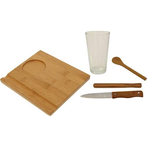 Conjunto Caipirinha 5 Peças Bamboo