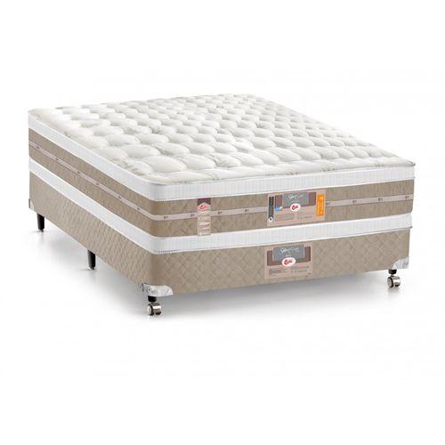 Conjunto Cama Box - Colchão Castor Mola Pocket® Silver Star Air Double Face com Box Si