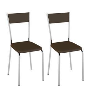 Conjunto com 2 Cadeiras Ducasse - MARROM