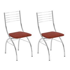 Conjunto com 2 Cadeiras Fiumicino - Marrom