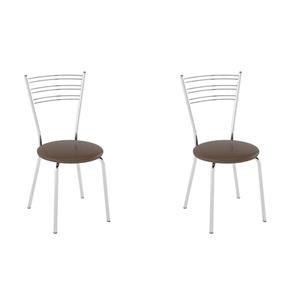 Conjunto com 2 Cadeiras Furlan - MARROM
