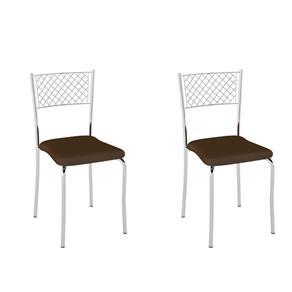 Conjunto com 2 Cadeiras Pablo - MARROM