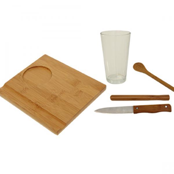 Conjunto de Bamboo para Caipirinha 5 Peças 3395 - Mor