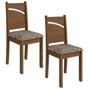 Conjunto de 2 Cadeiras Melissa - Cimol - Marrom