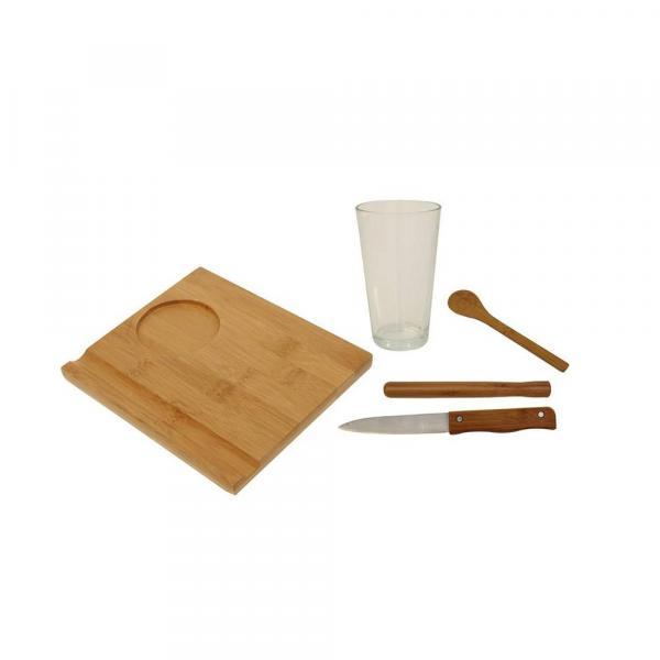 Conjunto de Caipirinha 5 Pçs Bamboo Mor