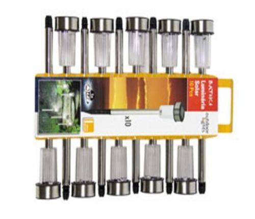 Tudo sobre 'Conjunto de Luminárias Solares com 10 Peças - Batiki'