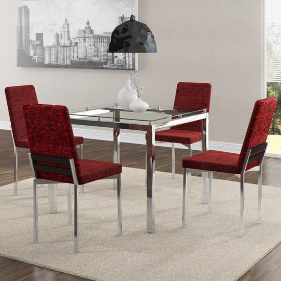 Conjunto de Mesa 0326 e 4 Cadeiras 0399 - Carraro 326399.4 3263994