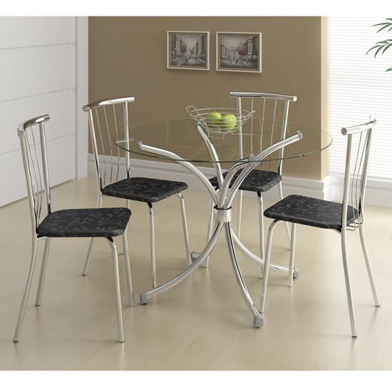 Conjunto de Mesa 0375 e 4 Cadeiras 0154 - Carraro 375154.4 3751544