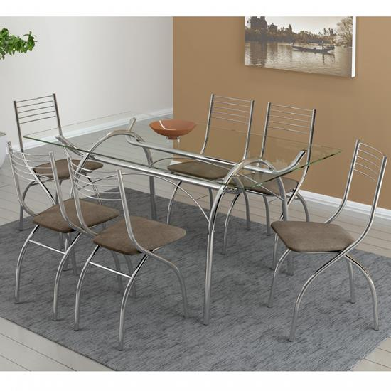 Conjunto de Mesa 0379 e 6 Cadeiras 0146 - Carraro 379146.6 3791466