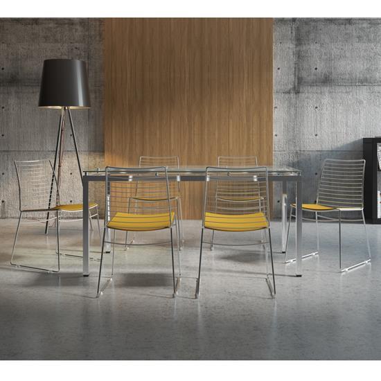 Conjunto de Mesa 0328 e 6 Cadeiras 1712 - Carraro 3281712.6.VI 32817126VI