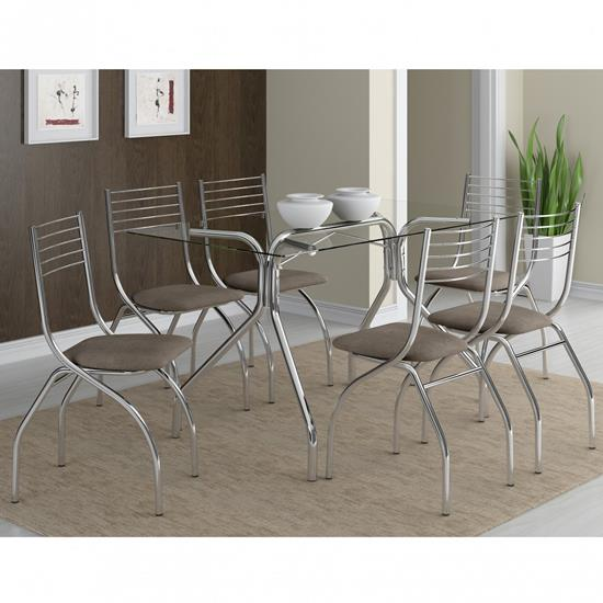 Conjunto de Mesa 0387 e 6 Cadeiras 0146 - Carraro 387146.6 3871466