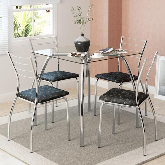 Conjunto de Mesa 1502 e 4 Cadeiras 1700 - Carraro 15021700.4 150217004