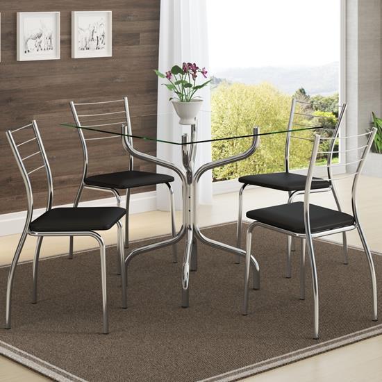 Conjunto de Mesa 0393 e 4 Cadeiras 1700 - Carraro 3931700.4 39317004
