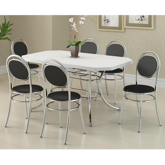 Conjunto de Mesa 1507 e 6 Cadeiras 0190 - Carraro 1507190.6 15071906