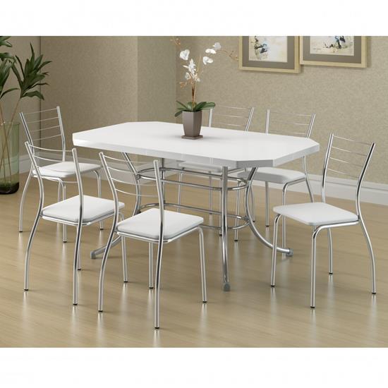 Conjunto de Mesa 1507 e 6 Cadeiras 1700 - Carraro 15071700.6 150717006