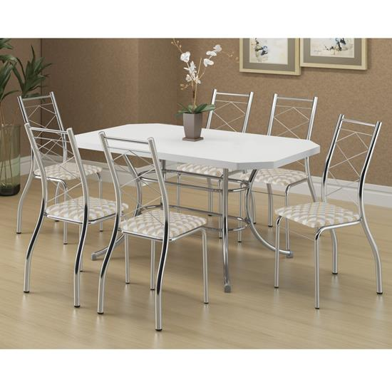 Conjunto de Mesa 1507 e 6 Cadeiras 1710 - Carraro 15071710.6 150717106