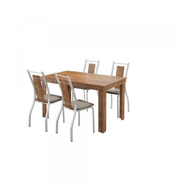 Conjunto de Mesa 1543 com 4 Cadeiras 1720 Carraro