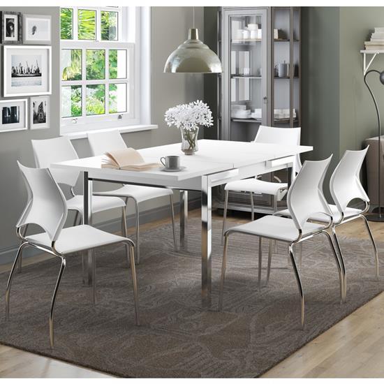Conjunto de Mesa 1541 e 6 Cadeiras 0357 - Carraro 1541357.6 15413576