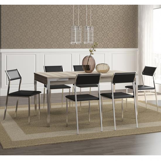 Conjunto de Mesa 1529 e 6 Cadeiras 1709 - Carraro 15291709.6 152917096