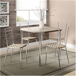 Conjunto de Mesa Carraro 1510 + 4 Cadeiras 1703