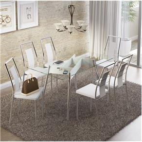Conjunto de Mesa Carraro 1534 + 6 Cadeiras 1718