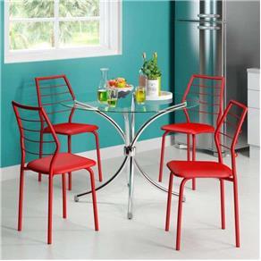 Conjunto de Mesa Carraro 375 + 4 Cadeiras 1716