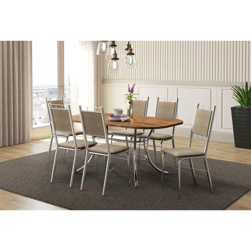 Conjunto de Mesa Carraro com 6 Cadeiras