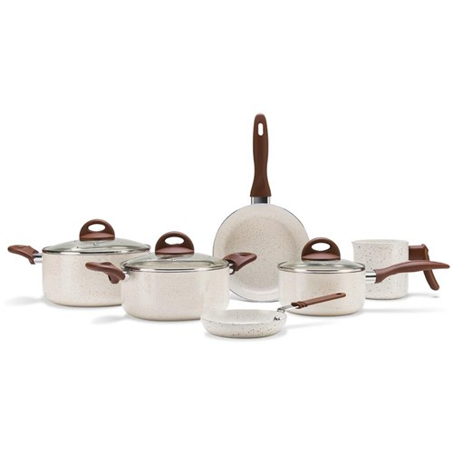 Conjunto de Panelas 6 Peças Brinox Ceramic Life Smart Plus - Vanilla
