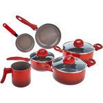 Conjunto de Panelas 6 Peças Brinox Ceramic Life Smart Plus, Vermelho