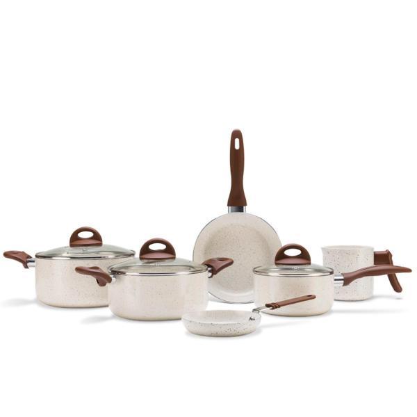 Conjunto de Panelas 6 Peças Ceramic 2.5 Life Smart Plus Vanilla - Brinox