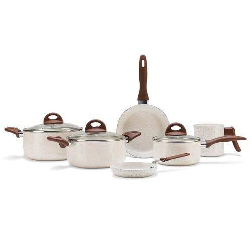 Conjunto de Panelas 6 Peças Ceramic Life Smart Plus Vanilla Brinox