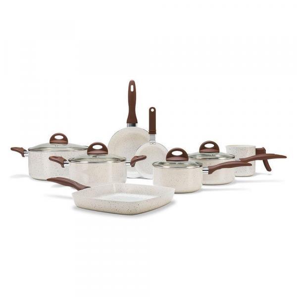 Conjunto de Panelas 8 Pcs Vanilla Ceramic Life Smart Plus 4791/105 - Brinox