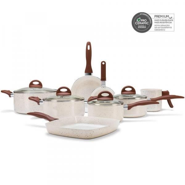 Conjunto de Panelas 8 Peças Ceramic Life Smart Plus 2,5 Vanilla - Brinox