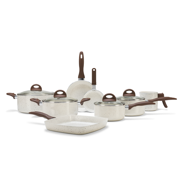 Conjunto de Panelas 8 Peças Ceramic Life Smart Plus Vanilla - Brinox