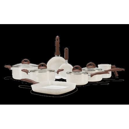 Conjunto de Panelas 8 Peças - Ceramic Life Smart Plus - Vanilla VANILLA