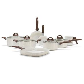 Conjunto de Panelas Brinox Ceramic Life Smart Plus 4791/105 com Revestimento Antiaderente Cerâmico – 8 Peças