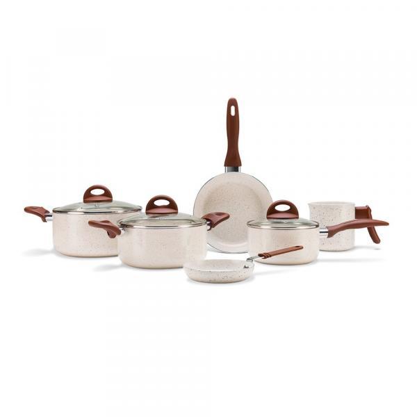 Conjunto de Panelas Brinox Ceramic Life Smart Plus Vanilla - 6 Peças