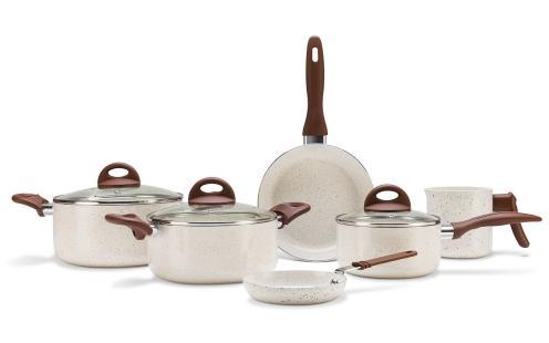 Conjunto de Panelas Ceramic Life Smart Plus 6 Peças - Vanilla - Brinox