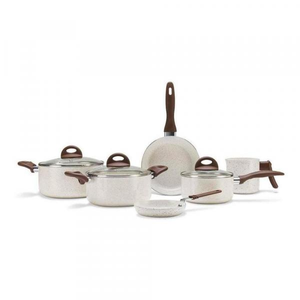 Conjunto de Panelas Ceramic Life Smart Plus Vanilla 6 Peças - Brinox